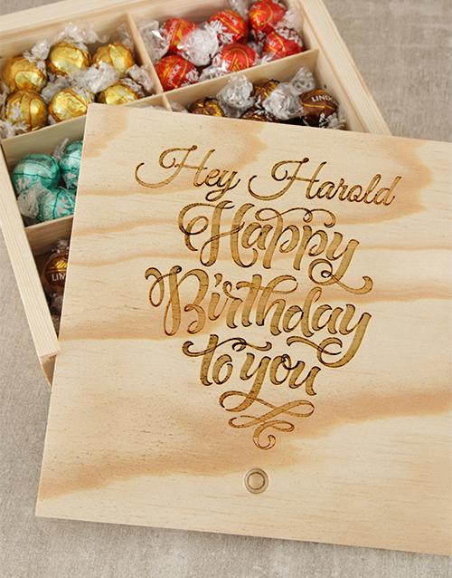 birthday: Personalised Birthday Choc Treasure Box!