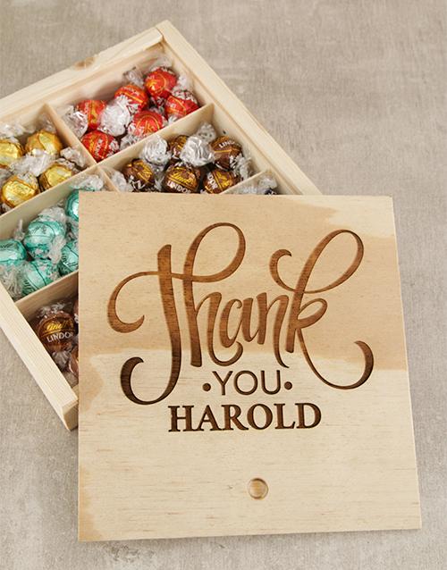 bestsellers: Personalised Thank You Choc Treasure Box!