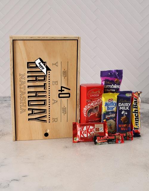 birthday: Personalised Birthday Chocolate Crate!