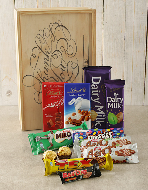 thank-you: Personalised Thank You Chocolate Crate!