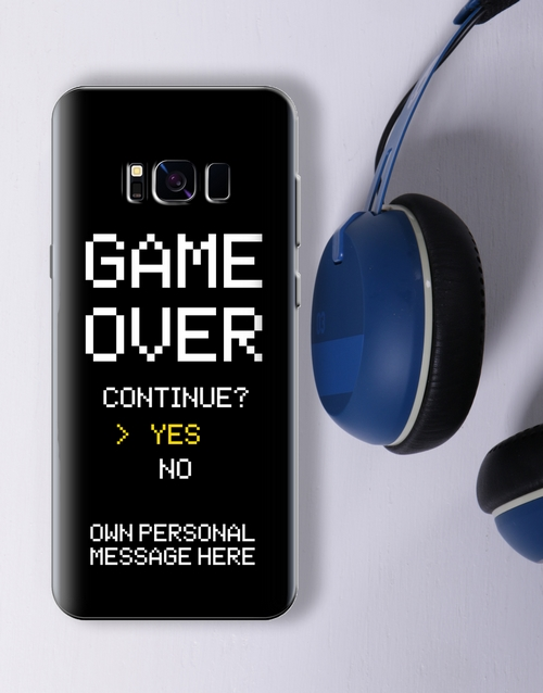 personalised: Personalised Game Over Samsung Cover!