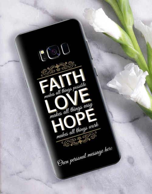 personalised: Personalised Faith Samsung Cover!
