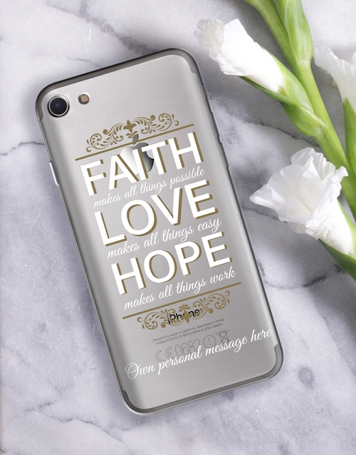 personalised: Personalised Faith iPhone Cover!
