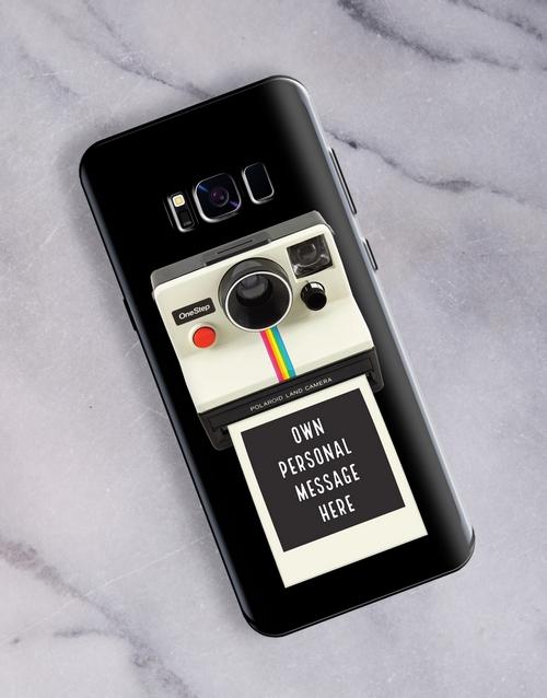 personalised: Personalised Polaroid Samsung Cover!