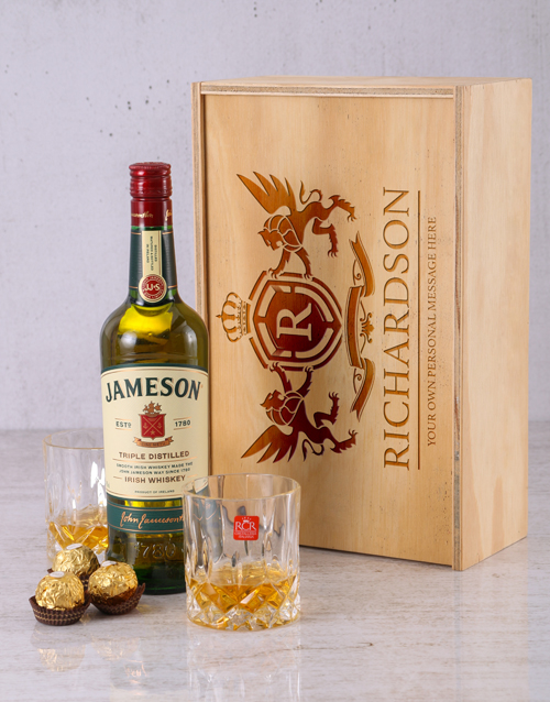 personalised: Personalised Jameson and Crystal Crate!