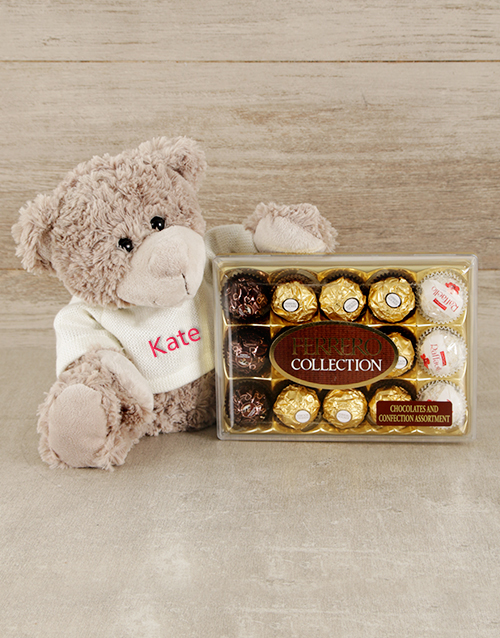 chocolate: Personalised Teddy and Ferrero!