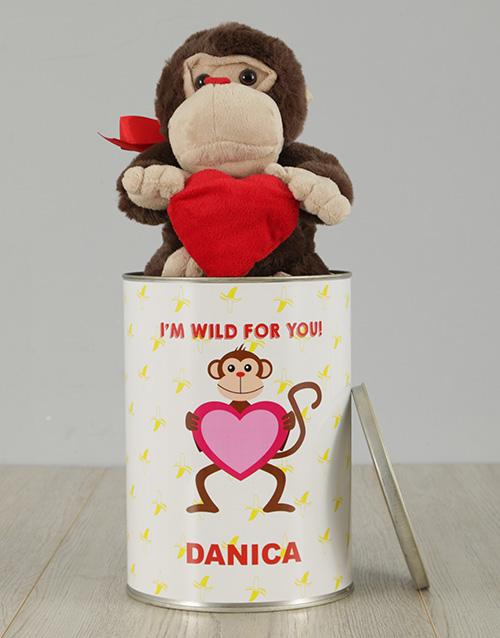 personalised: Personalised Monkey Tin!