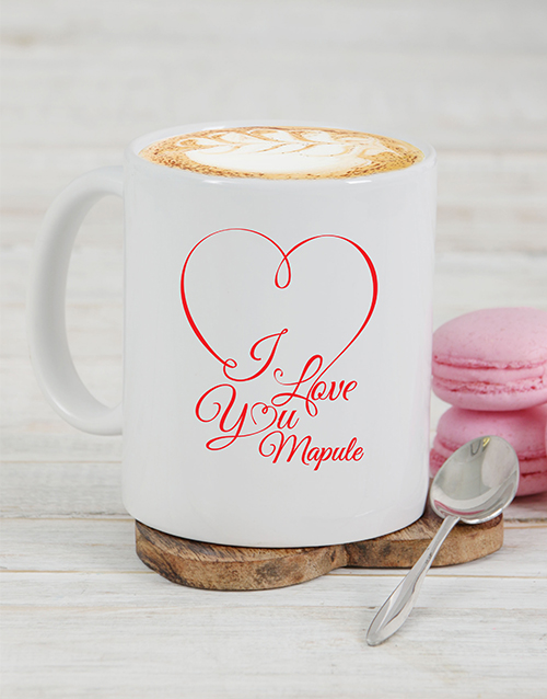 personalised: Personalised I Love You Mug!