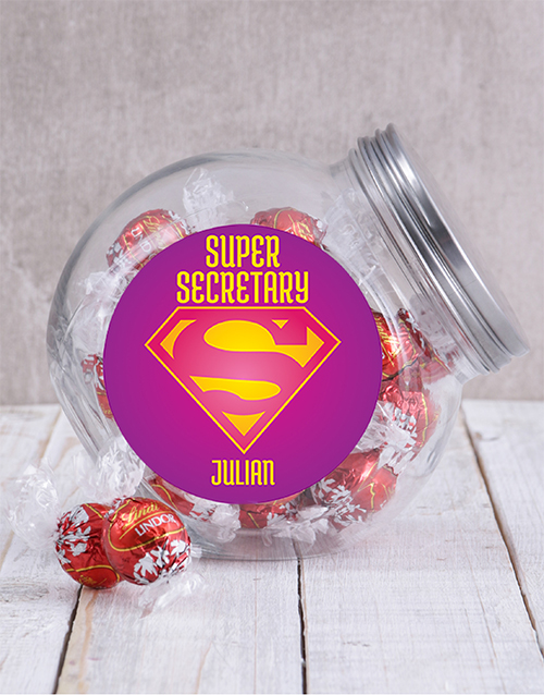 chocolate: Personalised Super Secretary Candy Jar!