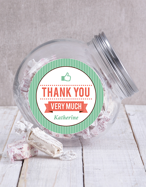 thank-you: Thank You Thumbs Up Candy Jar!