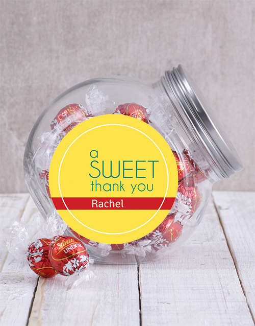 personalised: Personalised Sweet Thank You Candy Jar!