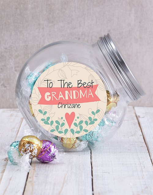 candy-jars: Personalised Best Grandma Candy Jar!