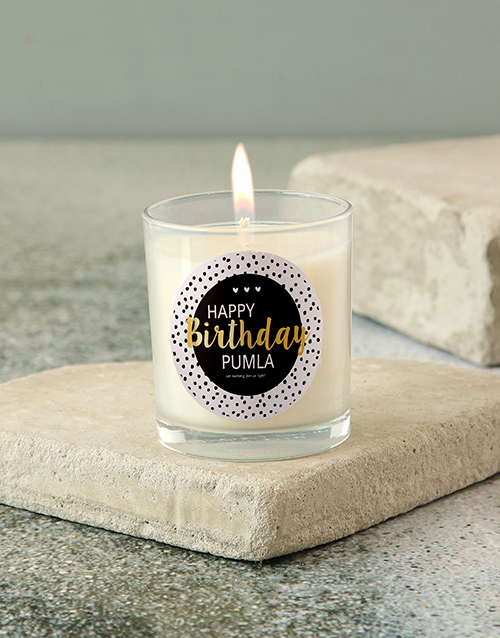 personalised: Personalised Classy Happy Birthday Candle!