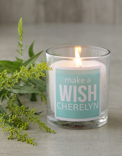 personalised: Personalised Make A Wish Candle!