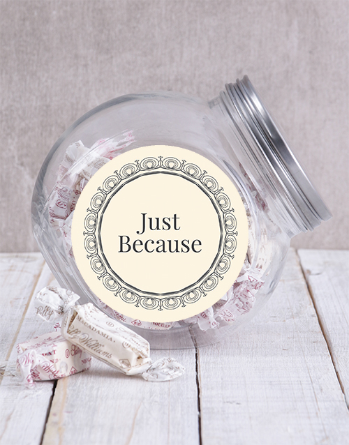chocolate: Candy Jar with Personalised Message!