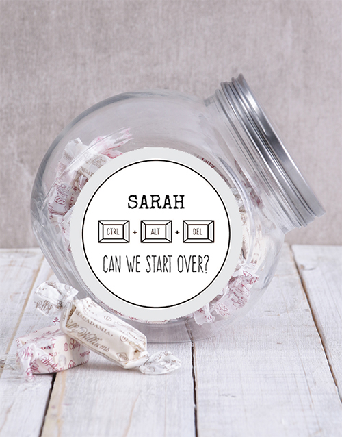 personalised: Personalised Can We Start Over Candy Jar!