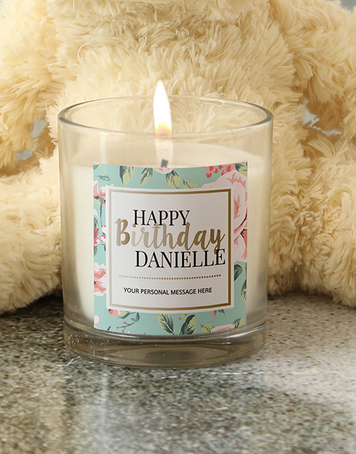 birthday: Personalised Pastel Happy Birthday Candle!