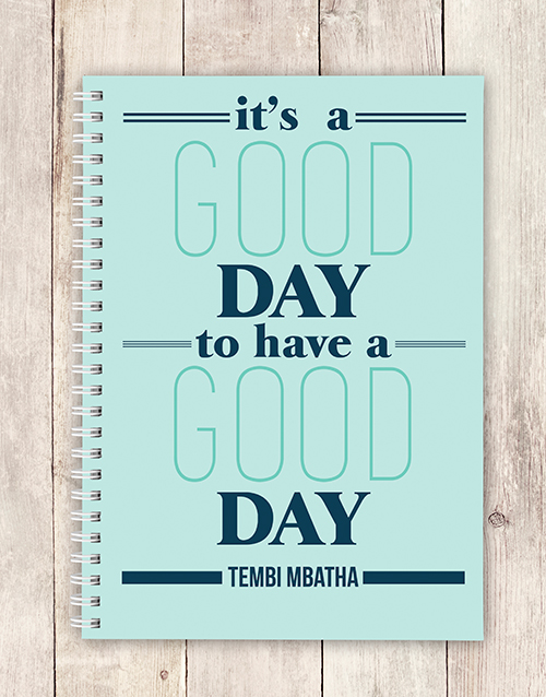 personalised: Personalised Its A Good Day Notebook!