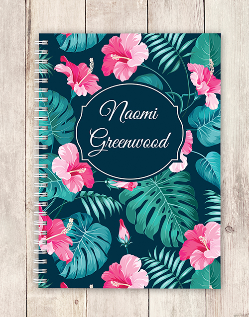 prices: Personalised Tropical Notebook!
