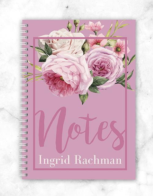 personalised: Personalised Roses Notebook!