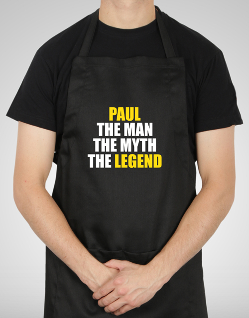 personalised: Personalised The Legend Apron!