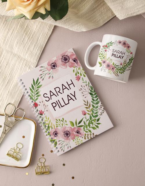 personalised: Personalised Floral Wonder Notebook!