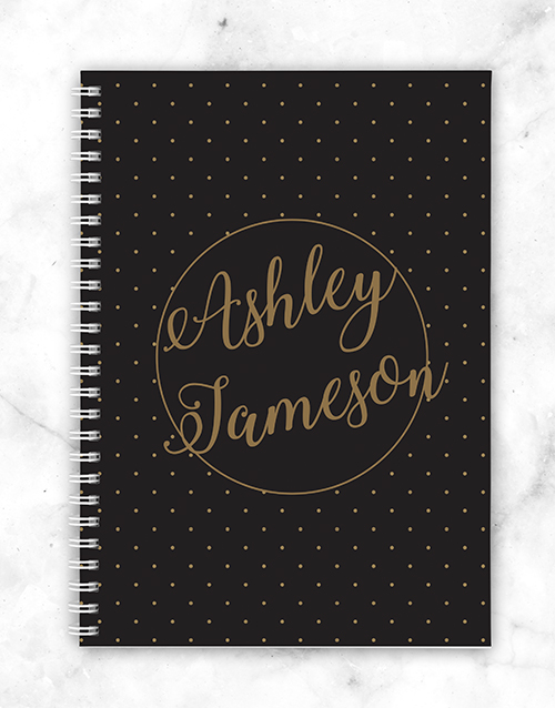 corporate: Personalised Dotted Style Notebook!
