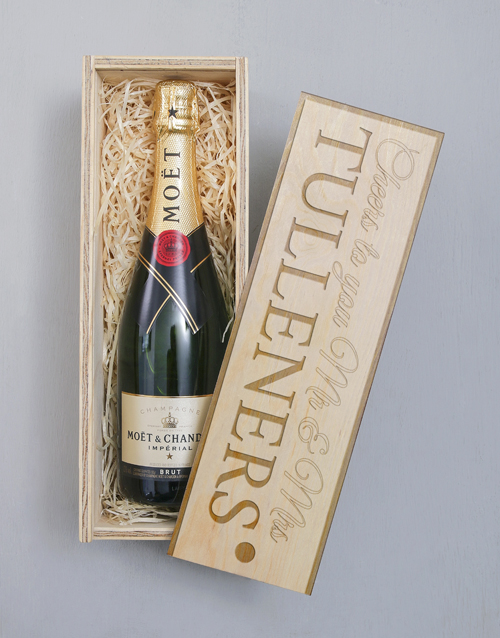 fine-alcohol: Personalised Moet Imperial Crate!