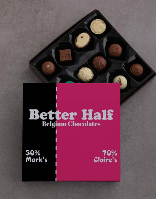 prices: Personalised Better Half Choc Tray!