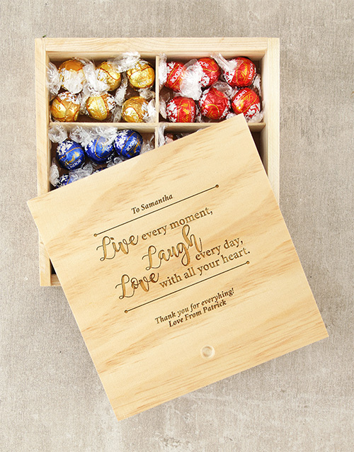 chocolate: Personalised Live Laugh Love Lindt Box!