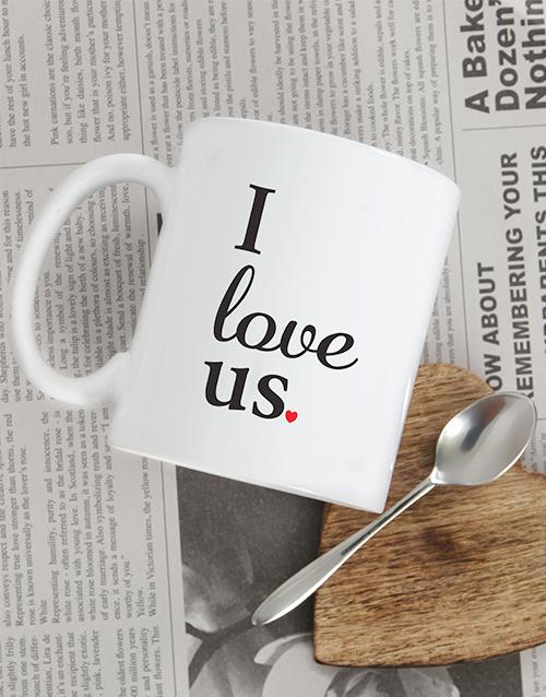 homeware: Personalised I Love Us Mug!