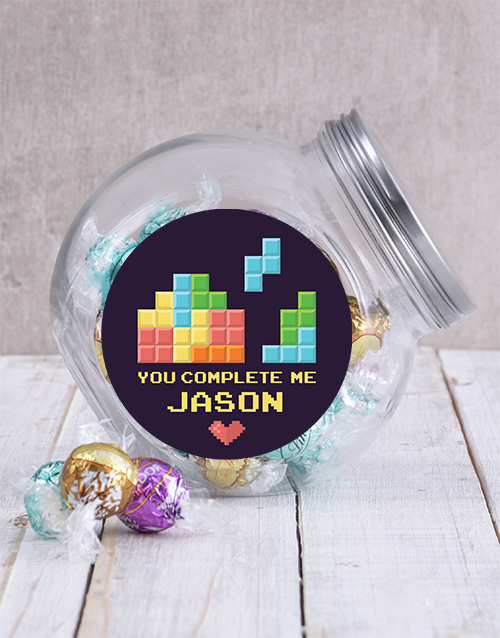candy-jars: Personalised You Complete Me Candy Jar!