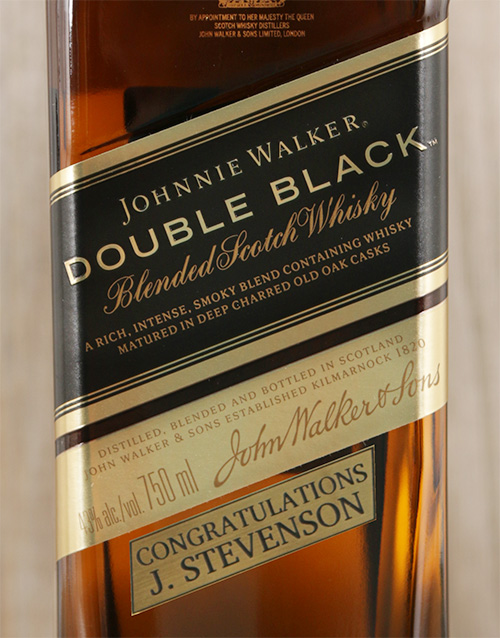 fine-alcohol: Personalised Johnnie Walker Double Black!