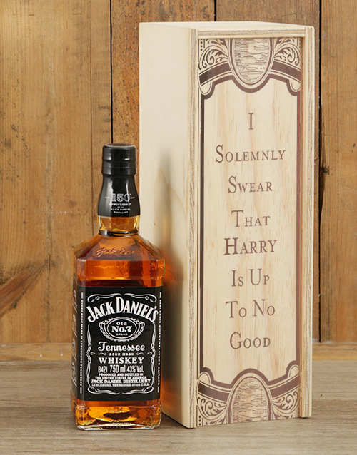 personalised: Personalised Solemnly Swear Jack Daniels Crate!