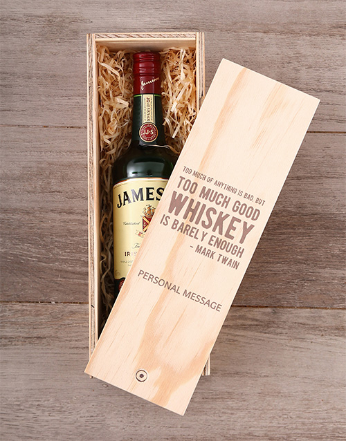 fine-alcohol: Personalised Whiskey Quote Crate!