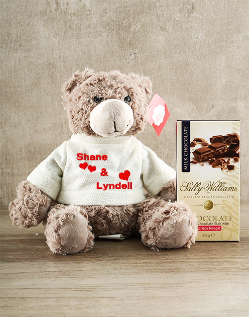 personalised: Personalised Teddy with Nougat !