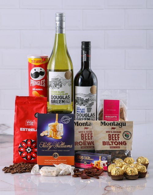 best-sellers: Gift Box of Wine Biltong and Chocolates!