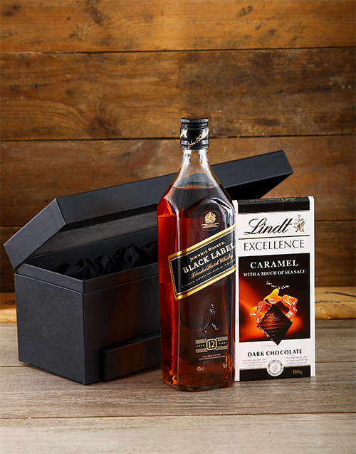 fine-alcohol: Johnnie Walker Black and Lindt Hamper!