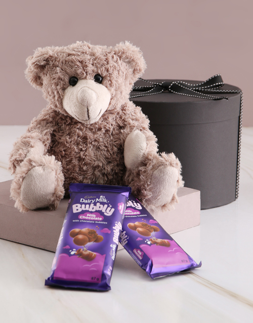 mothers-day: Teddy and Cadbury Chocolates in Gift Box!