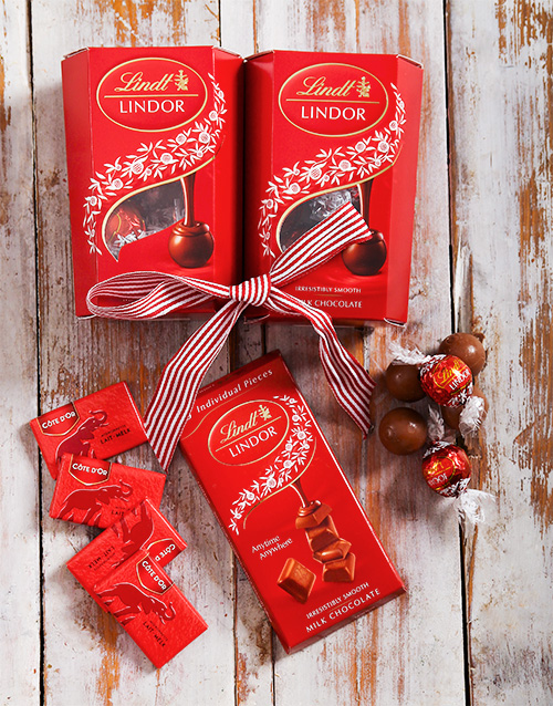 get-well: Lindt Chocolate Assorted Hamper!