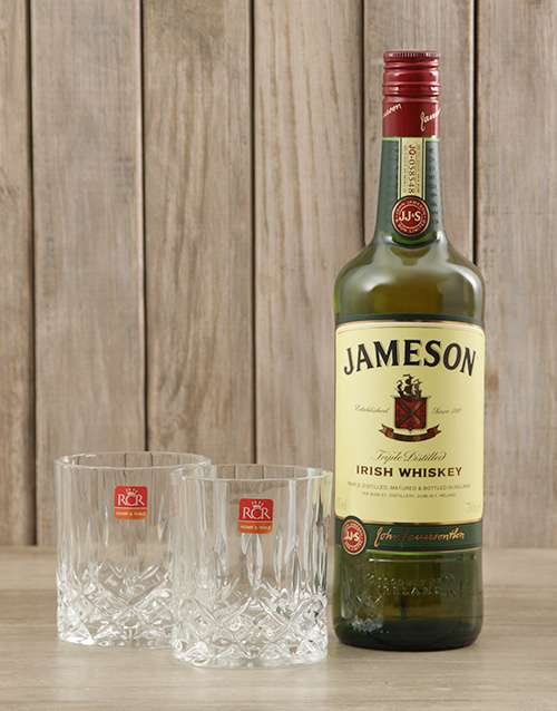 fine-alcohol: Jameson Whiskey & Crystal Glasses!