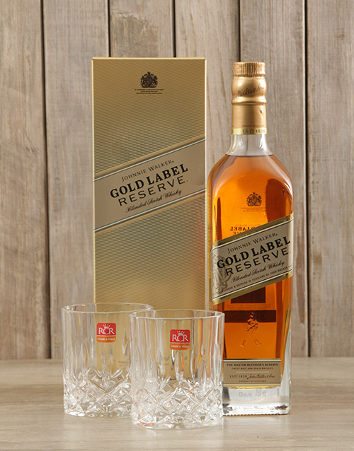 christmas: Johnnie Walker Gold & Crystal Glasses!