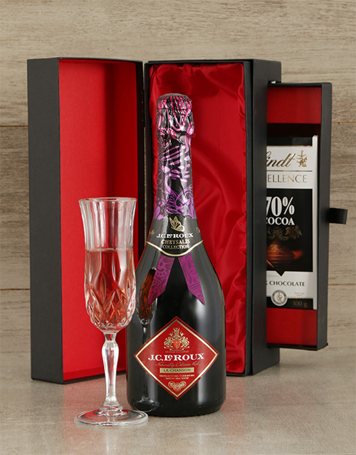 chocolate: JC Le Roux Rose Sparkling Wine & Luxury Chocolate !