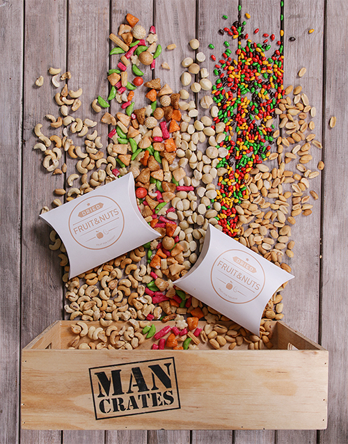 birthday: Man Crate Consisting of a Variety of Nuts!