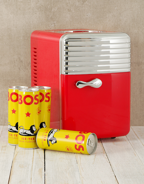 gadgets: Desk Fridge with BOS Iced Tea!
