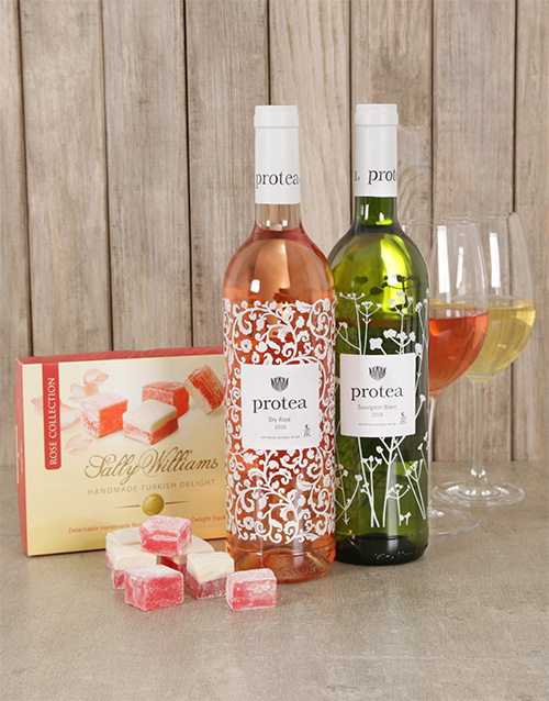 birthday: Delightful Protea Wine & Sally Williams Gift Box!