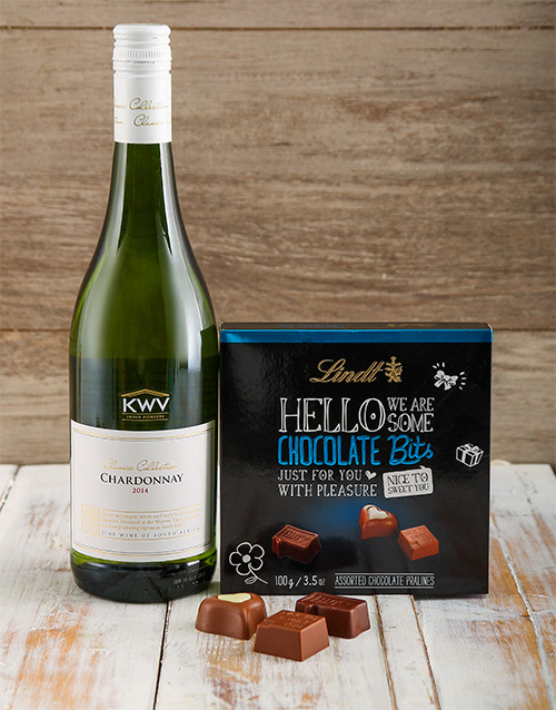 chocolate: Hello Lindt Chocolate and Wine Gift!