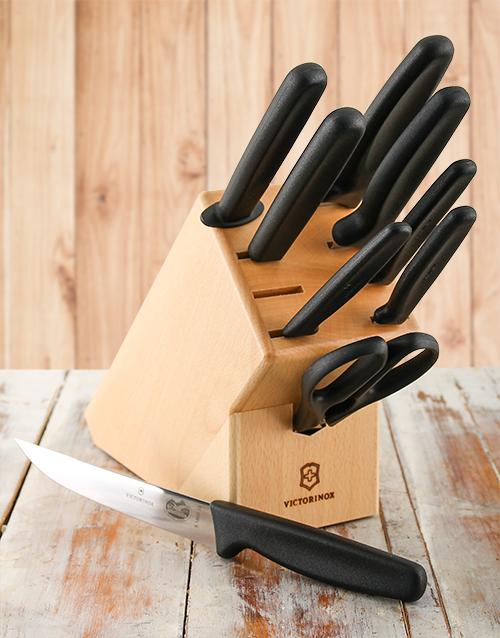 birthday: Victorinox 9 piece Knife Set!
