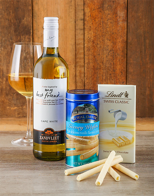 fine-alcohol: White Wine, Choc & Wafer Gift!