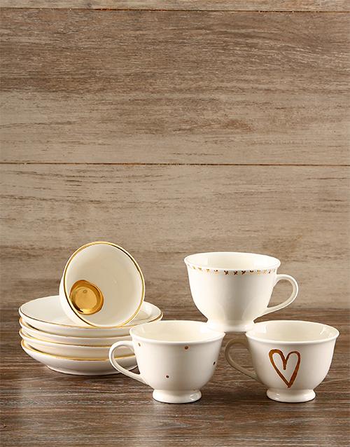 valentines-day: Gold Heart Tea Set!